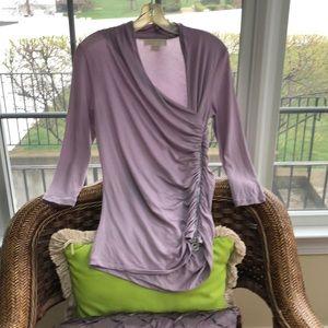 Michael Kors lilac side zipper blouse